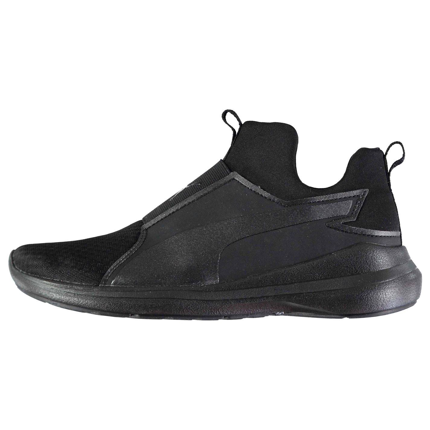 d3b93268ea6a40 ... Puma Rebel Mid Fitness Training Shoes Womens Black Gym Workout Trainers  Sneakers ...