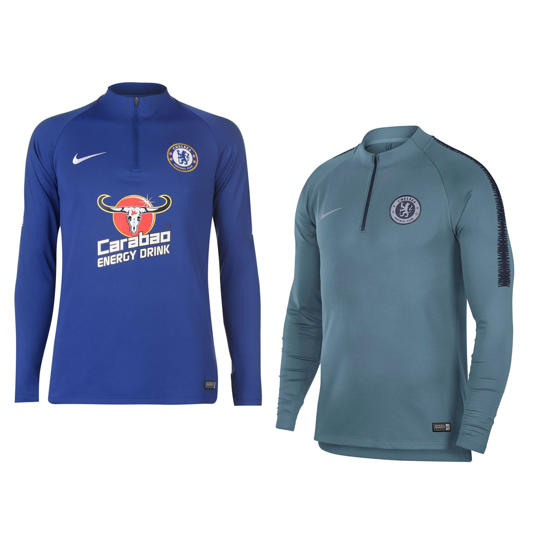 half off fcfda 0ac04 Details about Nike Chelsea Squad Drill Top 2018 2019 Mens Football Soccer  Sweatshirt