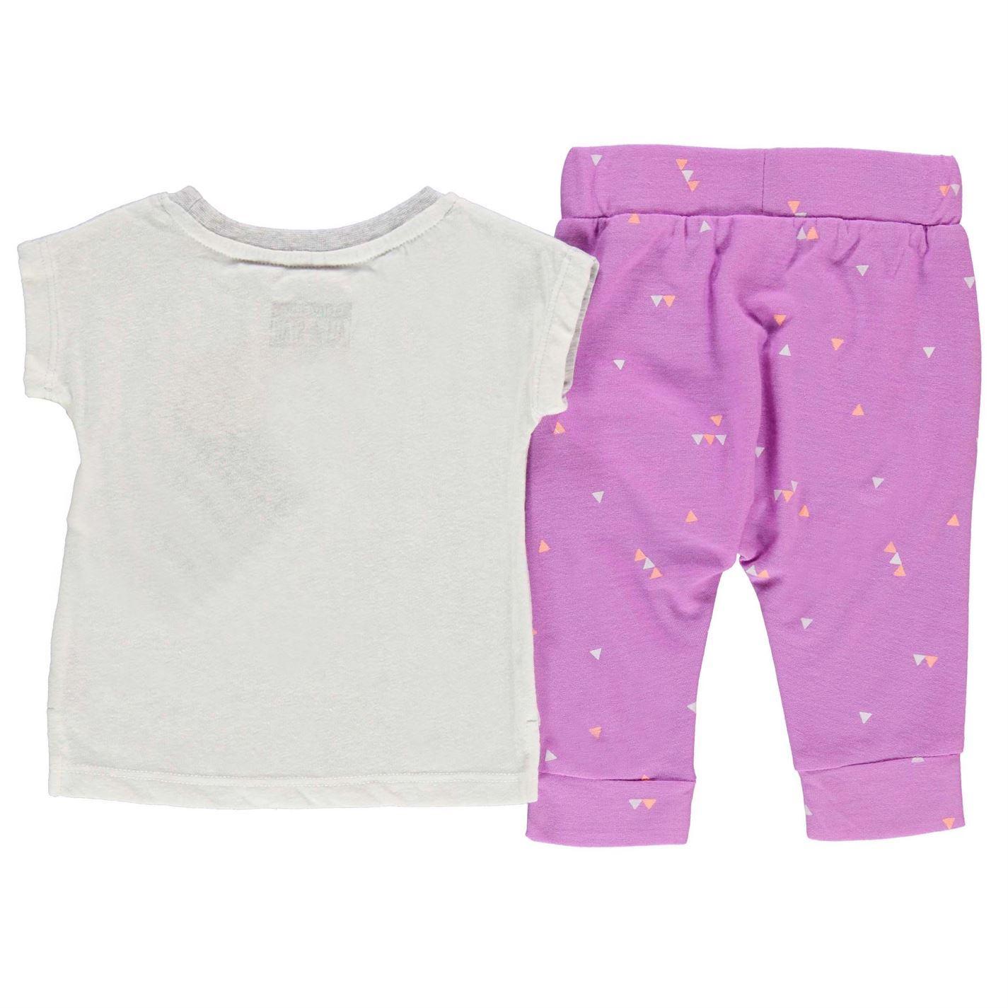 Converse 2 Piece T Shirt Shorts Set Infant Baby Pink Grey Clothes