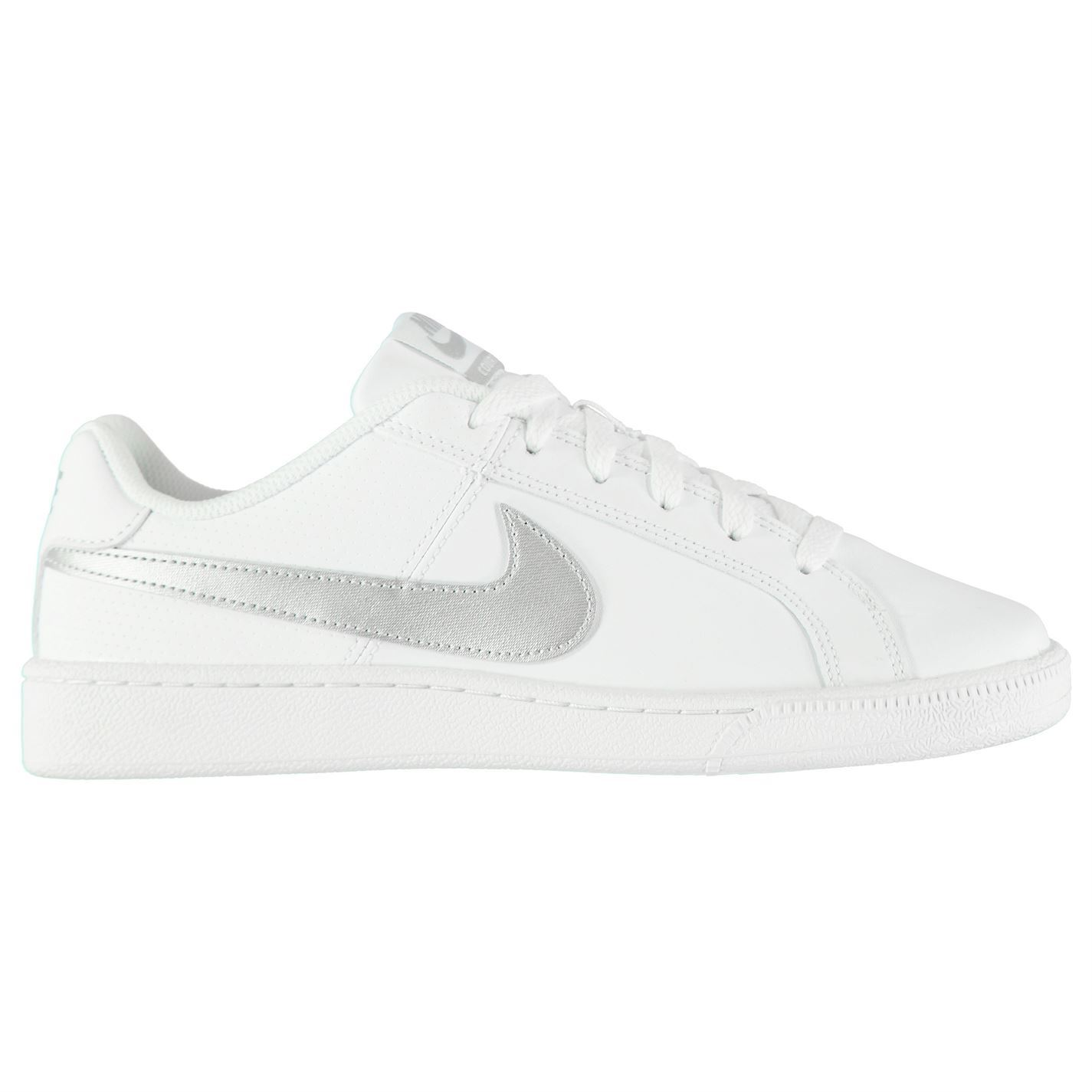 Details about Nike Court Royale Trainers Womens WhiteSilver Sports Trainers Sneakers