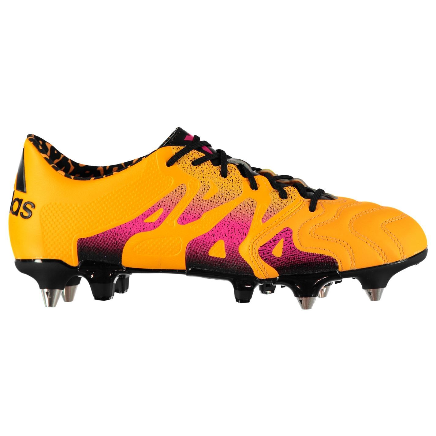c8322c17d71 adidas X 15.1 Soft Ground Leather Football Boots Mens Gold Soccer Shoes  Cleats