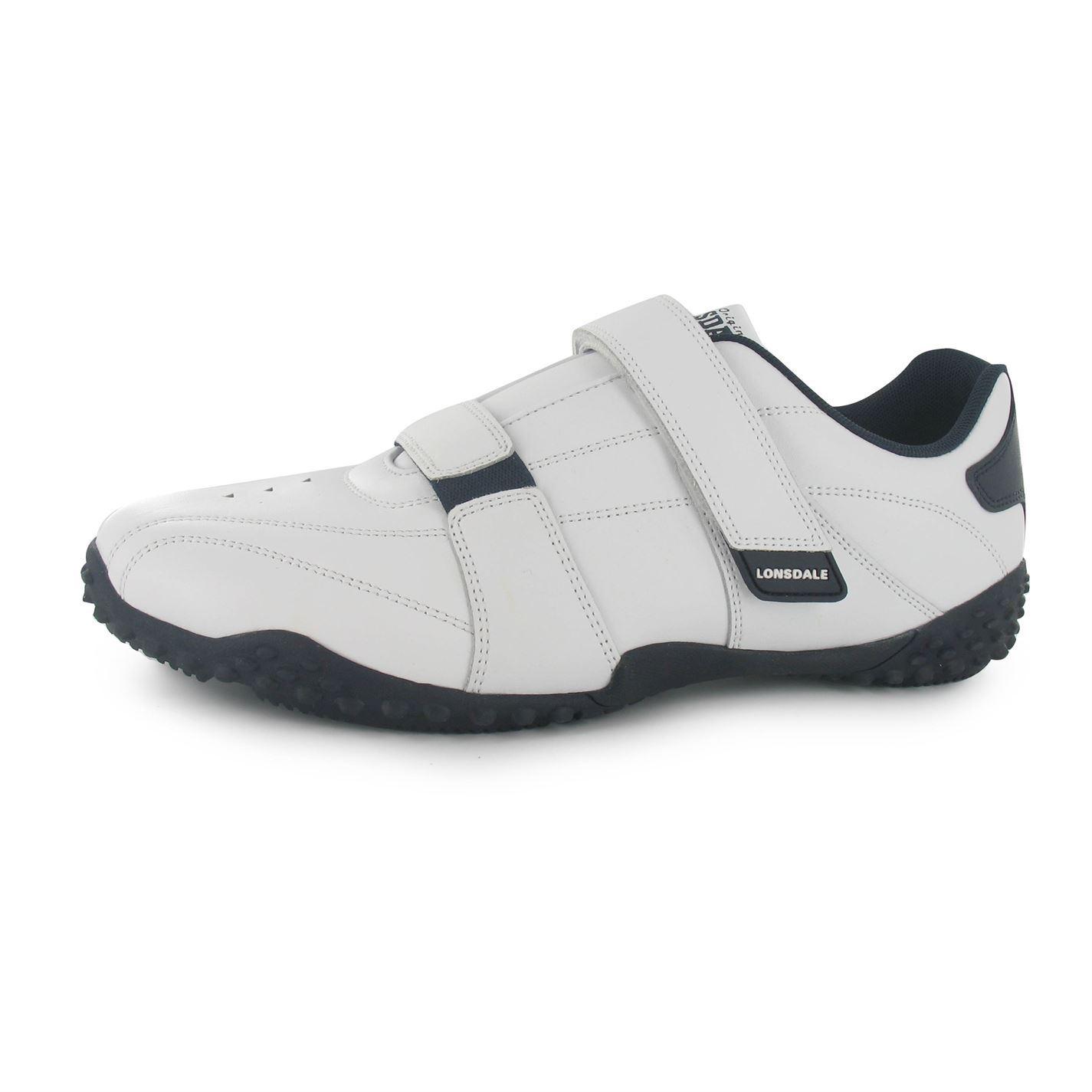 Lonsdale Fulham Trainers Uomo White/Navy Casual Scarpe da Ginnastica Scarpe Footwear