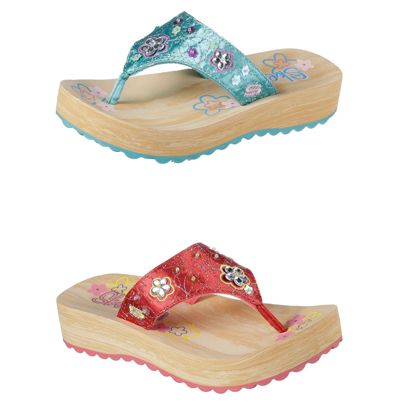 Kaufen elegante Schuhe neueste Details zu Skechers Sparks Zehentrenner Kinder Mädchen Tanga Sandalen  Strandschuhe