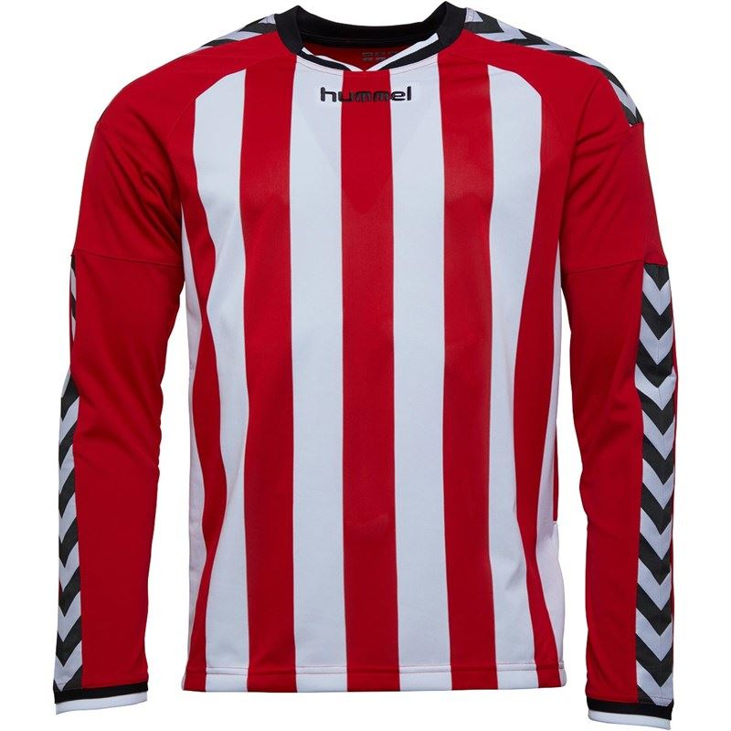 thumbnail 21 - Hummel-Long-Sleeve-Football-Shirt-Mens-Soccer-Jersey-Top-T-Shirt
