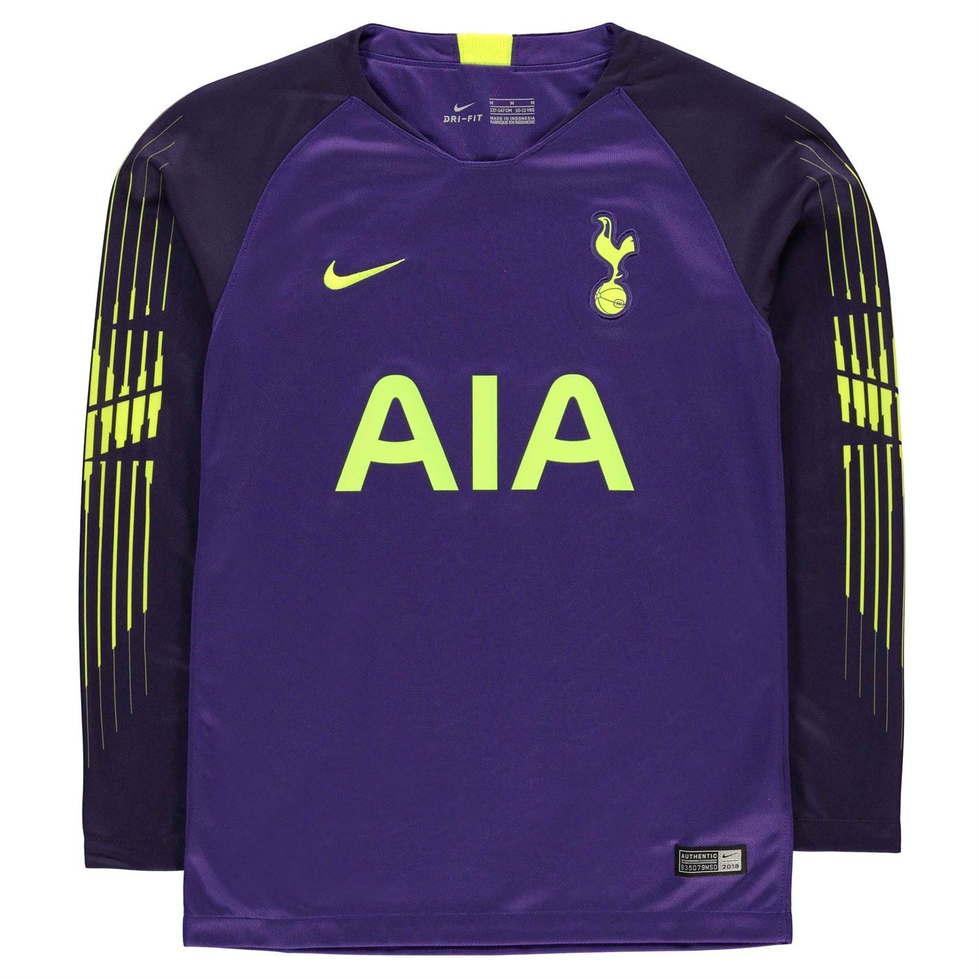 Nike Tottenham Hotspur Goalkeeper Jersey 2018 19 Juniors Purple Football  Soccer 5be88a731