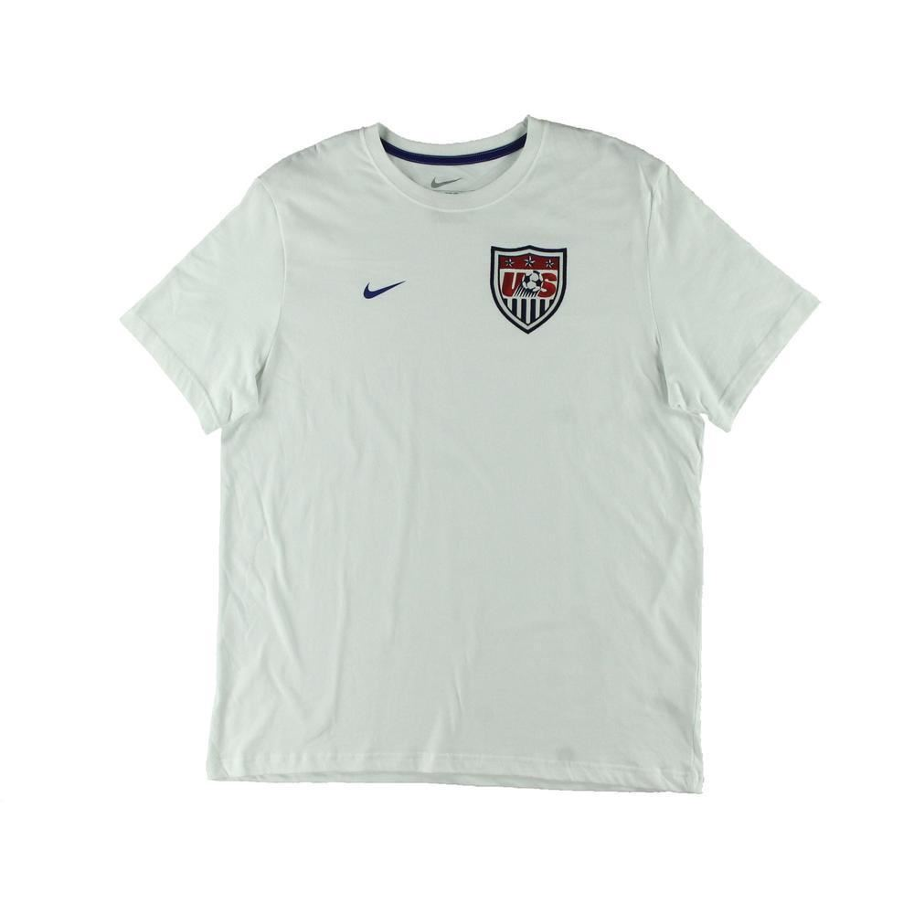 47131c89365 Nike US Soccer Core T-Shirt White Mens Team USA Football Top Tee Shirt