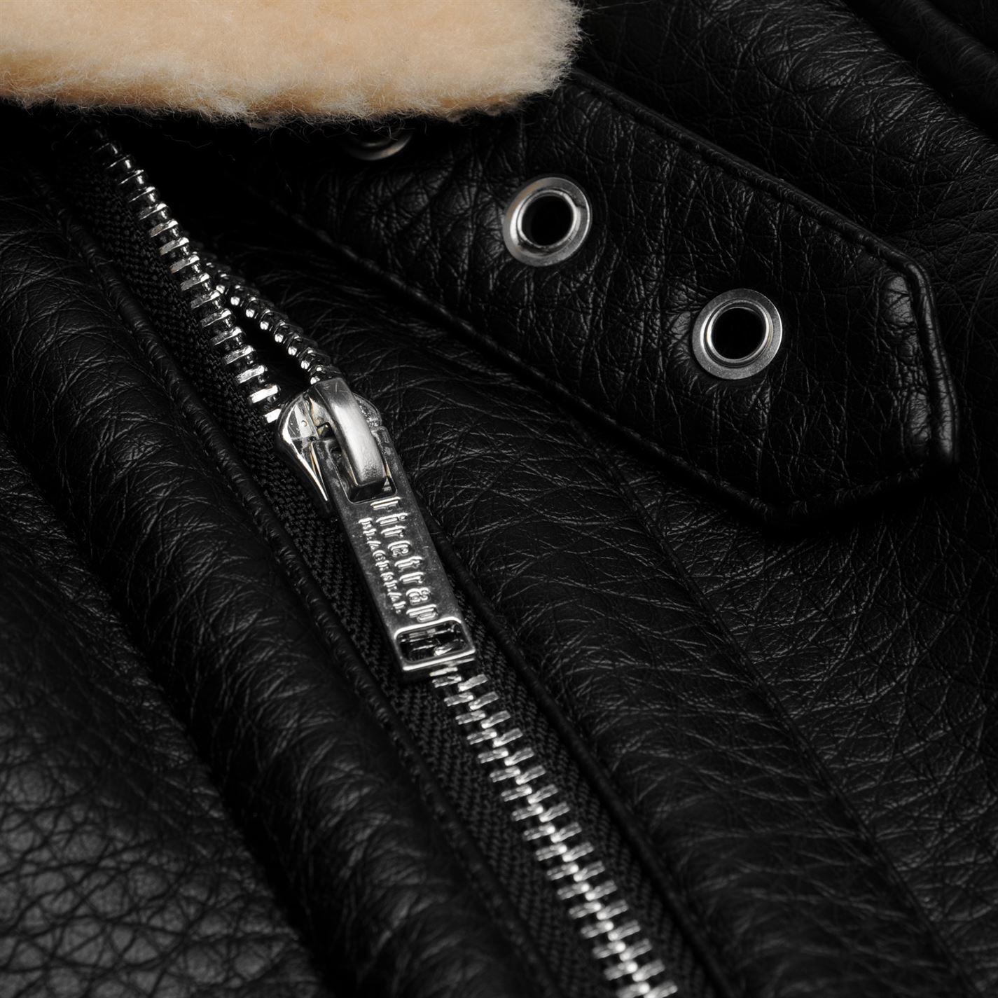 Firetrap Blackseal Aviator Jacket Womens Black Coats Outerwear  885120057