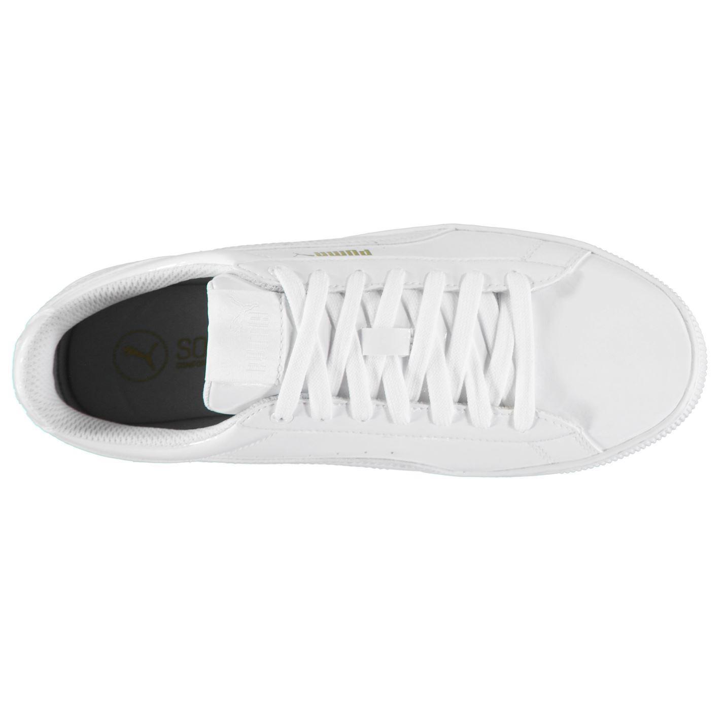... Puma di brevetto piattaforma formatori Womens White Sport scarpe da  ginnastica Sneakers f5f857873a5