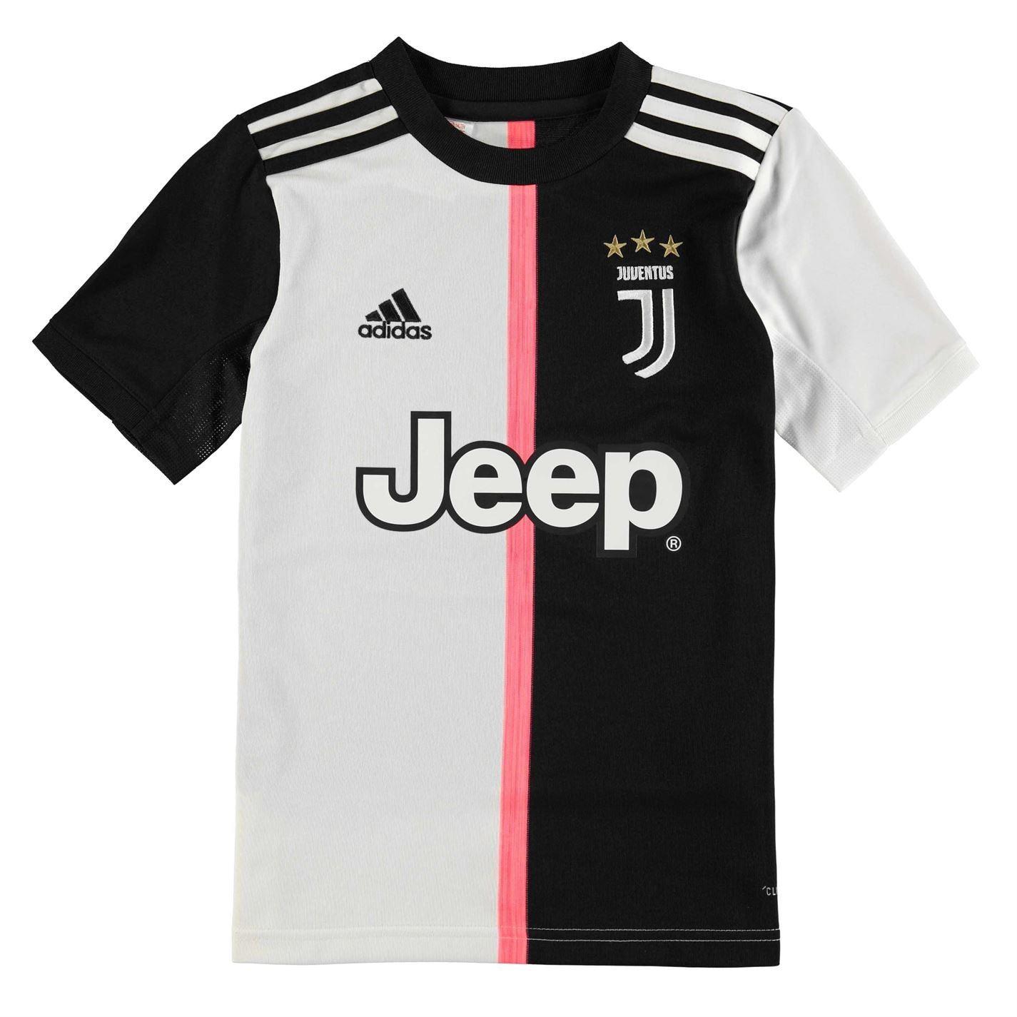 Detalles de Adidas Juventus Home Camisa 2019 20 Junior NegroBlanco Fútbol Jersey