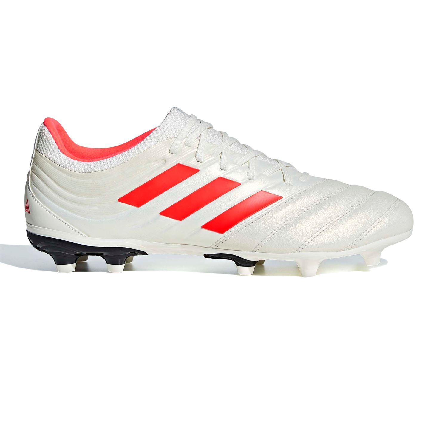 c5c54f17068 ... adidas Copa 19.3 FG Firm Ground Football Boots Mens White Red Soccer  Shoe Cleats ...