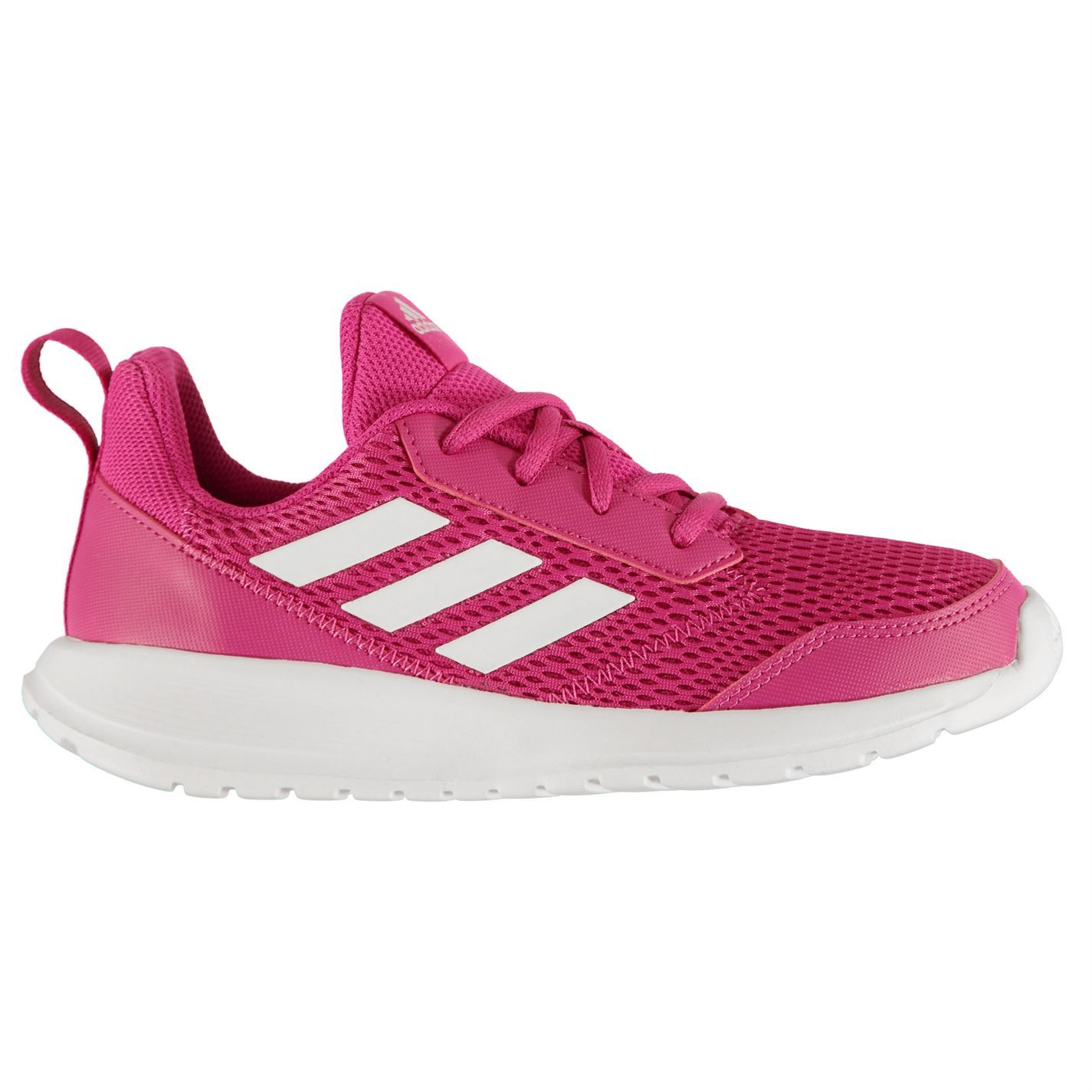 Details about adidas Alta Run Junior Girls Trainers PinkWhite Shoes Footwear