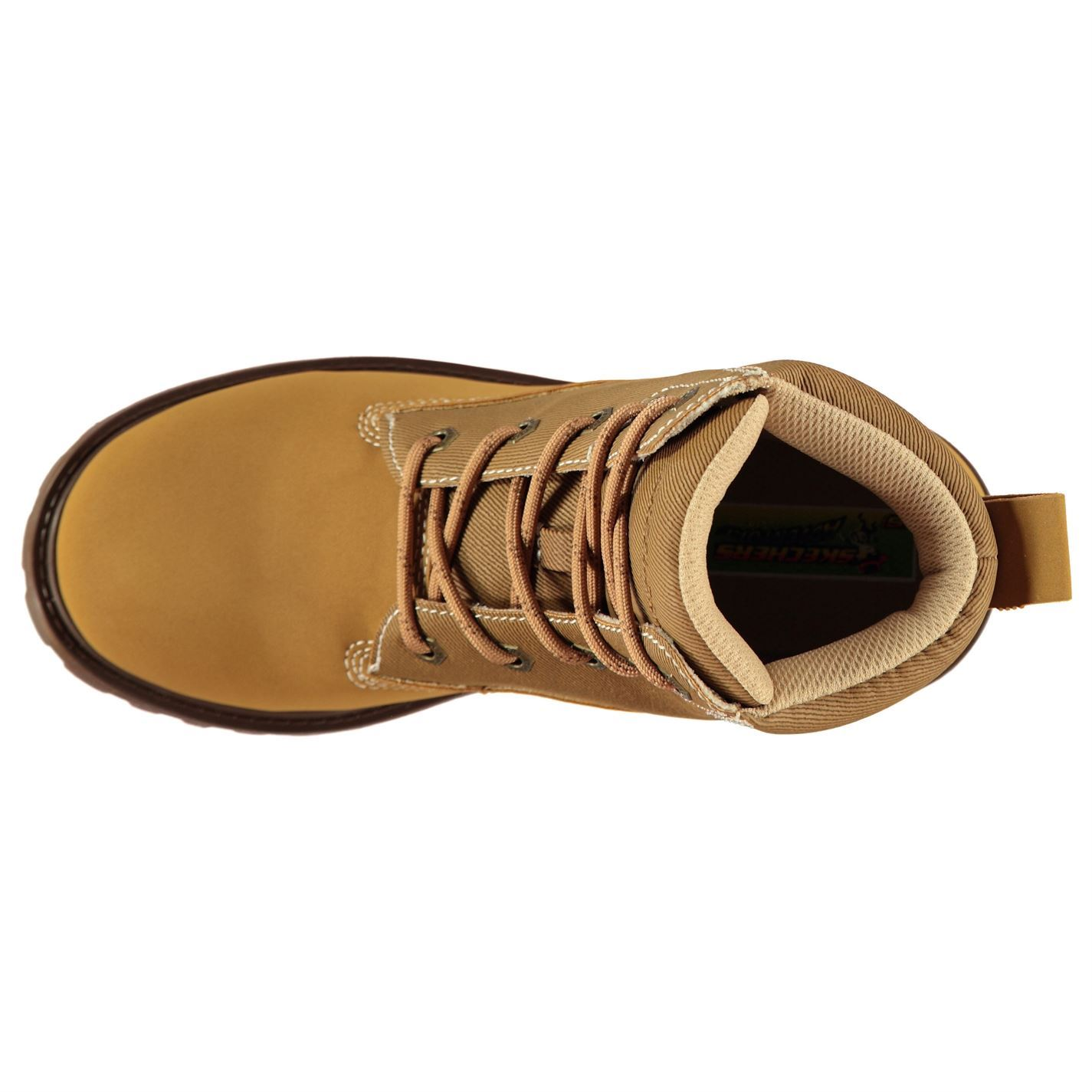 Détails sur Skechers Mecca Out Junior Garçons Bottes Marron Chaussures Chaussures