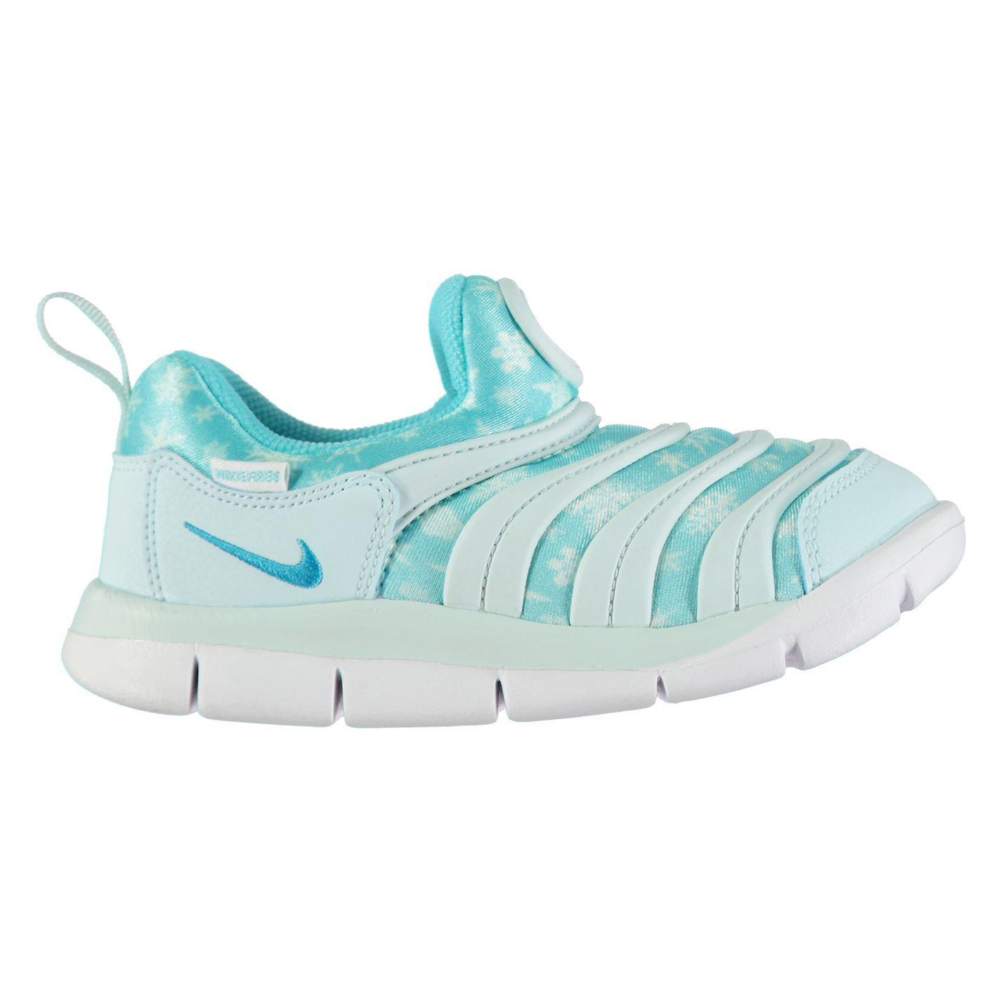 485ca0f5f85d8 ... Nike Dynamo Free Print Girls Trainers Blue Blue Shoes Footwear ...