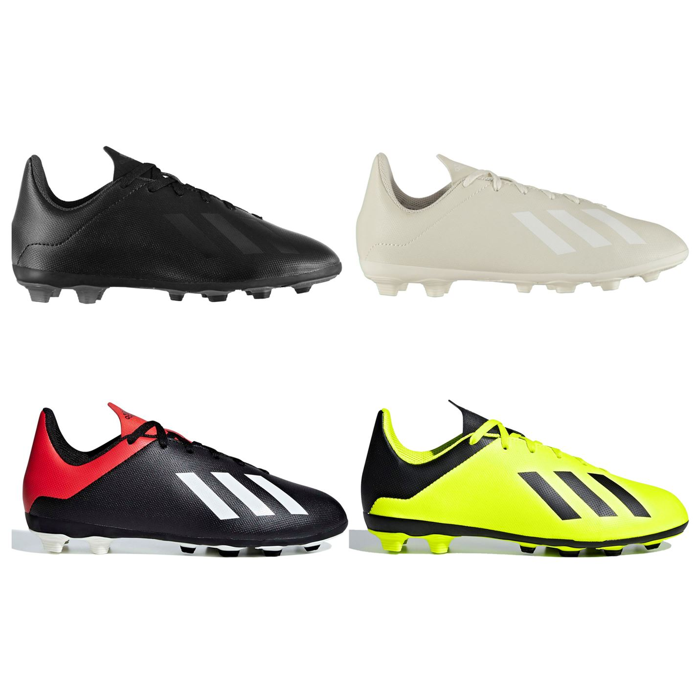b26651a1b ... adidas X 18.4 FG Firm Ground Football Boots Childs Soccer Shoes Cleats  ...