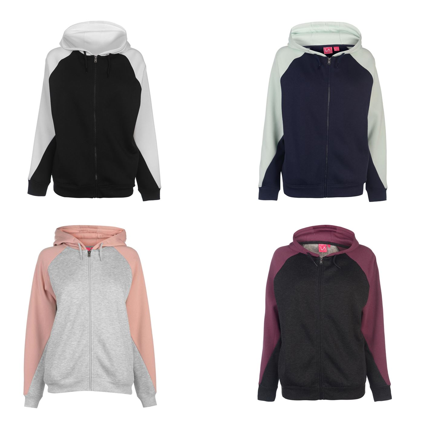 Ladies Branded Lee Cooper Stylish Long Sleeves Cut and Sew OTH Hoodie Size 8-18
