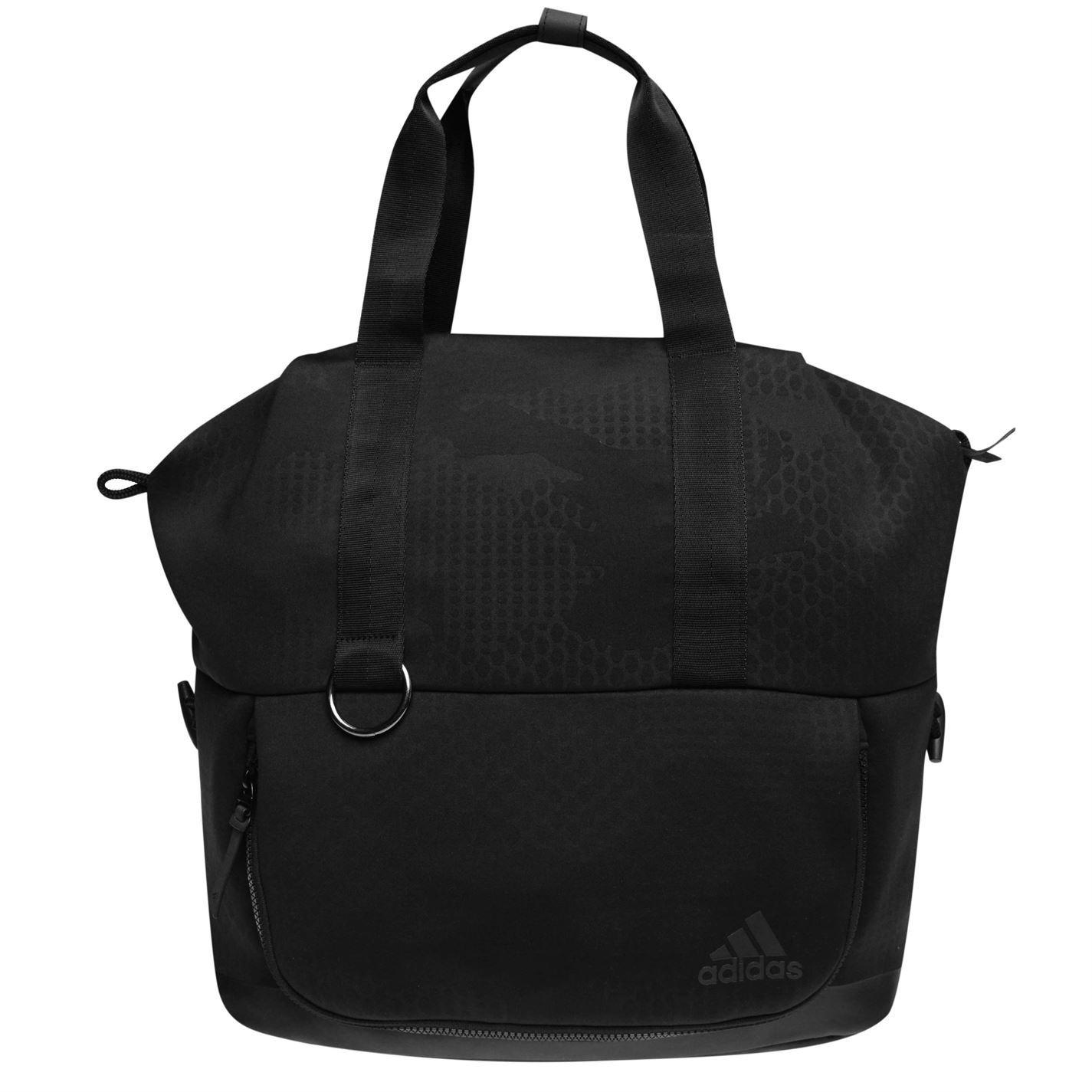 c8aaf8831 ... adidas FAV Tote Bag Womens Black Holdall Handbag Shopper Bag ...