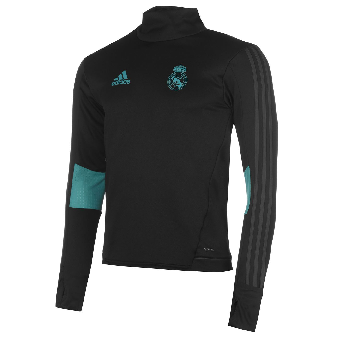 Details about adidas Real Madrid CF Training Sweatshirt Mens Black Football Soccer Sweater Top