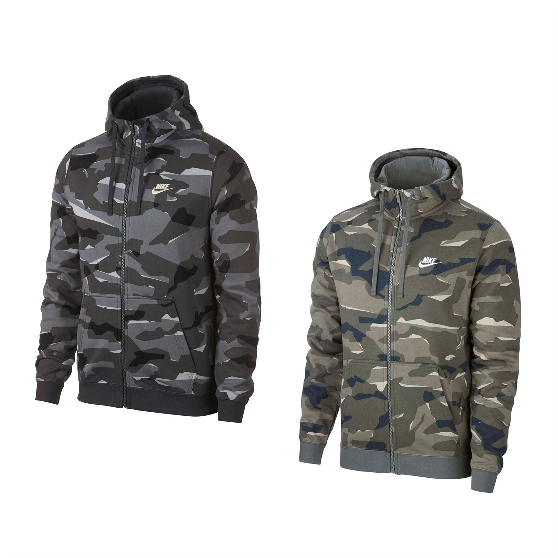 4b19e00ec429e ... Nike camuflaje cremallera chaqueta con capucha para hombre con capucha  Sudadera suéter con capucha Top ...