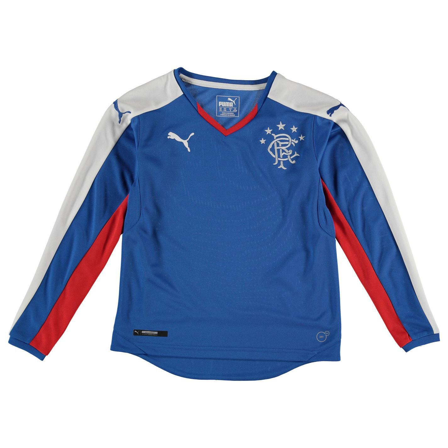 half off 0d613 2d103 Details about Puma Glasgow Rangers Long Sleeve Jersey Juniors Blue/White  Football Soccer Shirt