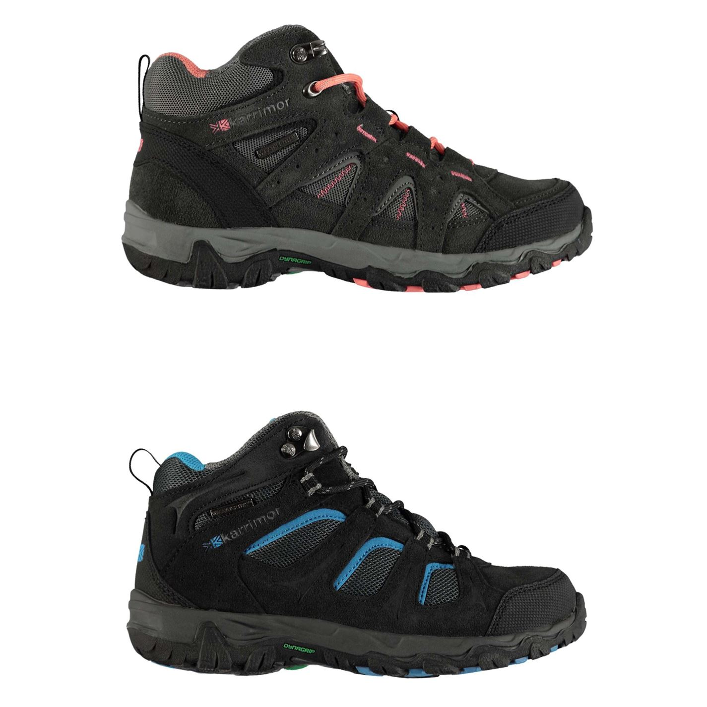 b2ba4399f0b Details about Karrimor Mount Mid Top Walking Boots Childs Boys Hiking  Trekking Shoes