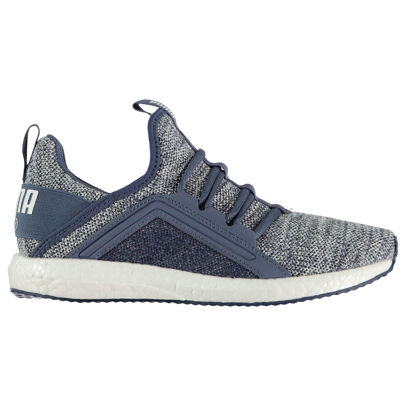 912a35b39d6f11 ... Puma Mega NRGY Knit Running Shoes Womens Blue Run Jogging Trainers  Sneakers ...