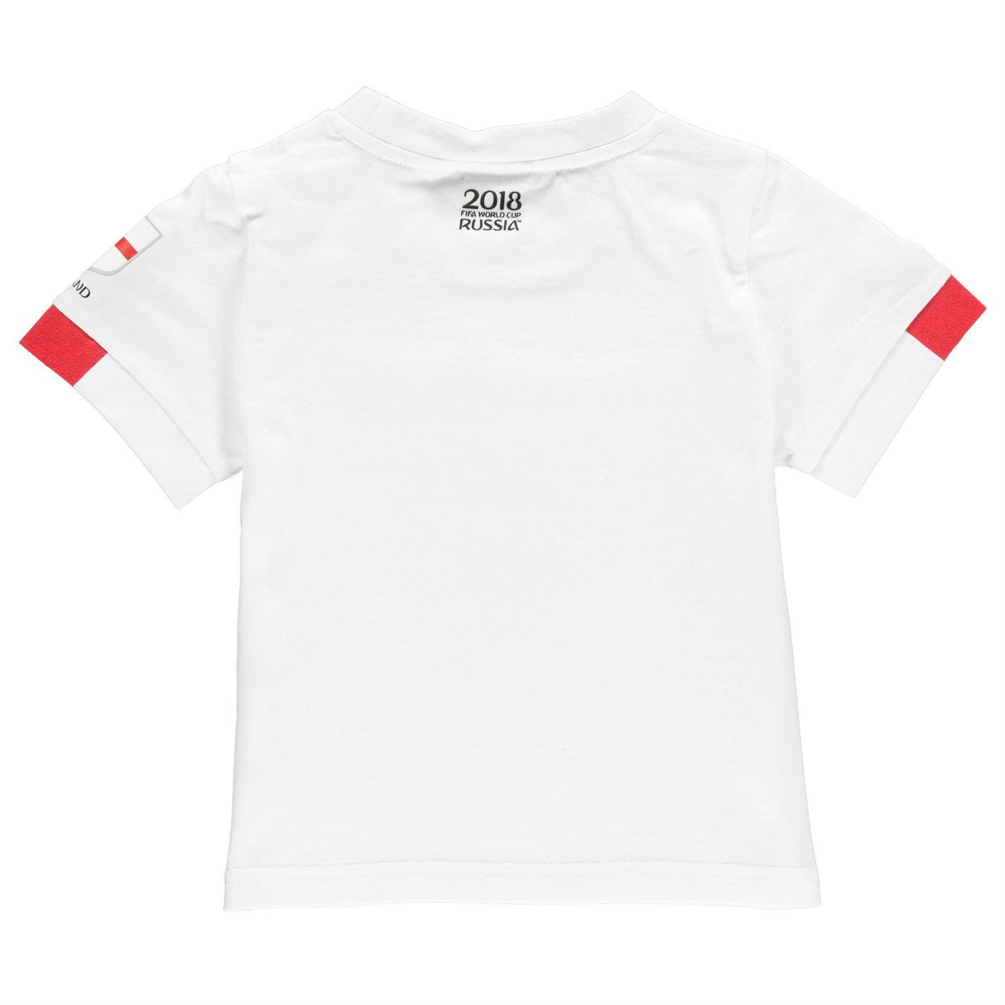 24e0c0855 FIFA World Cup 2018 England Mascot T-Shirt Infants White Football Soccer Tee  Top