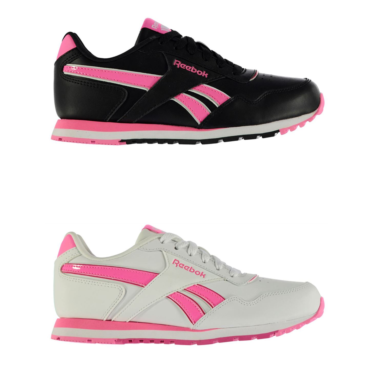 Details about Reebok Classic Glide Junior Girls Trainers Shoes Footwear