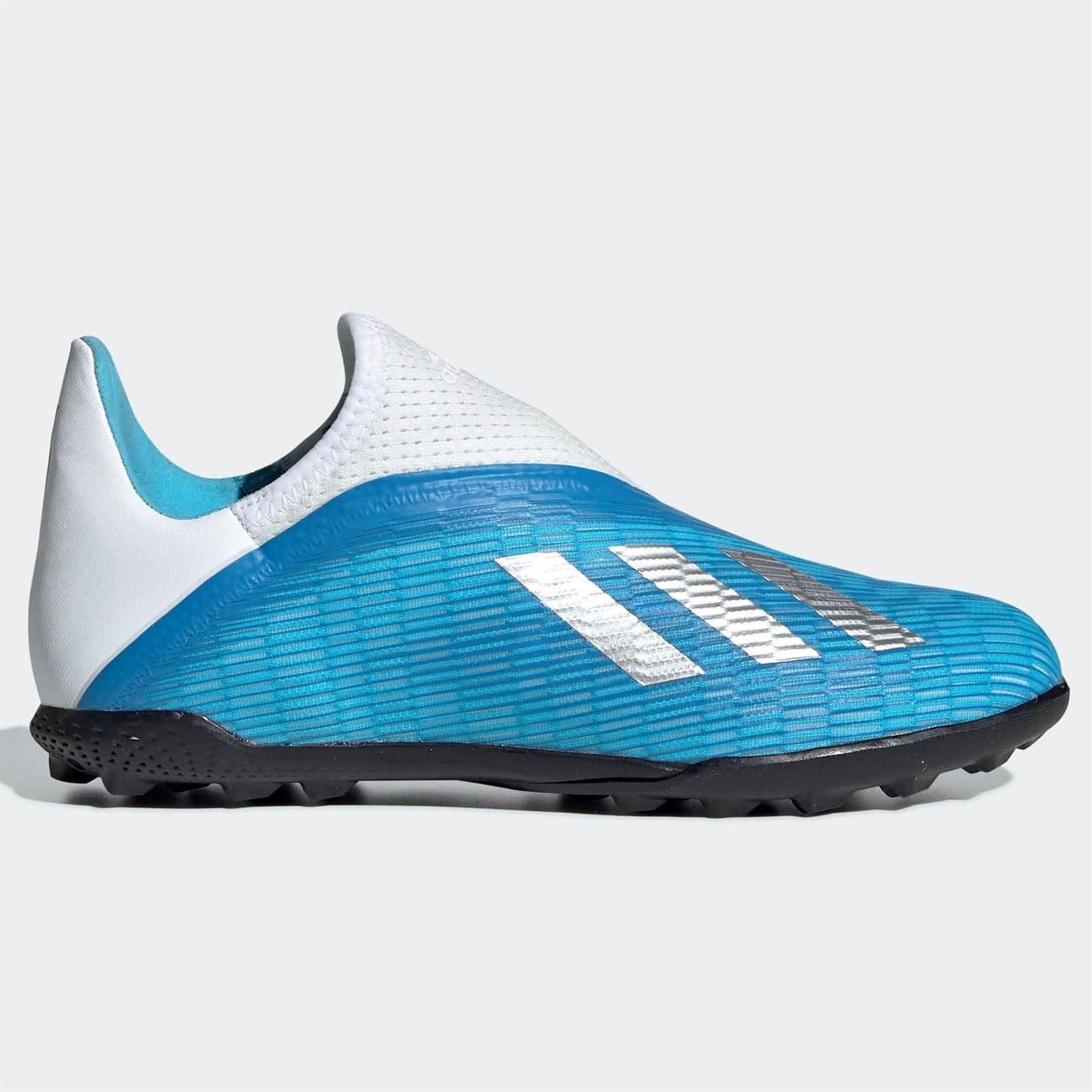 Details about adidas X 19.3 Laceless Astro Turf Football Boots Junior Boys  Cyan/Black