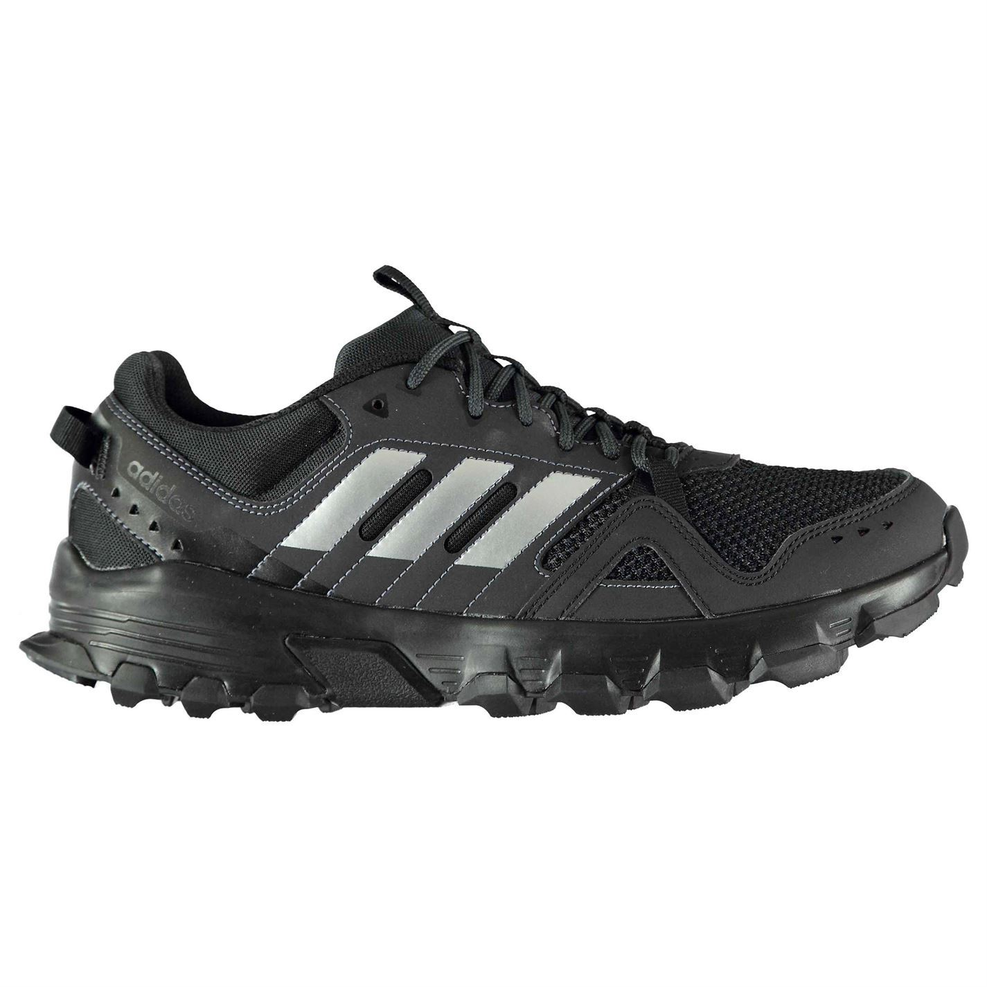 ... adidas Rockadia Trail Running Shoes Mens Black/Grey Jogging Trainers  Sneakers ...