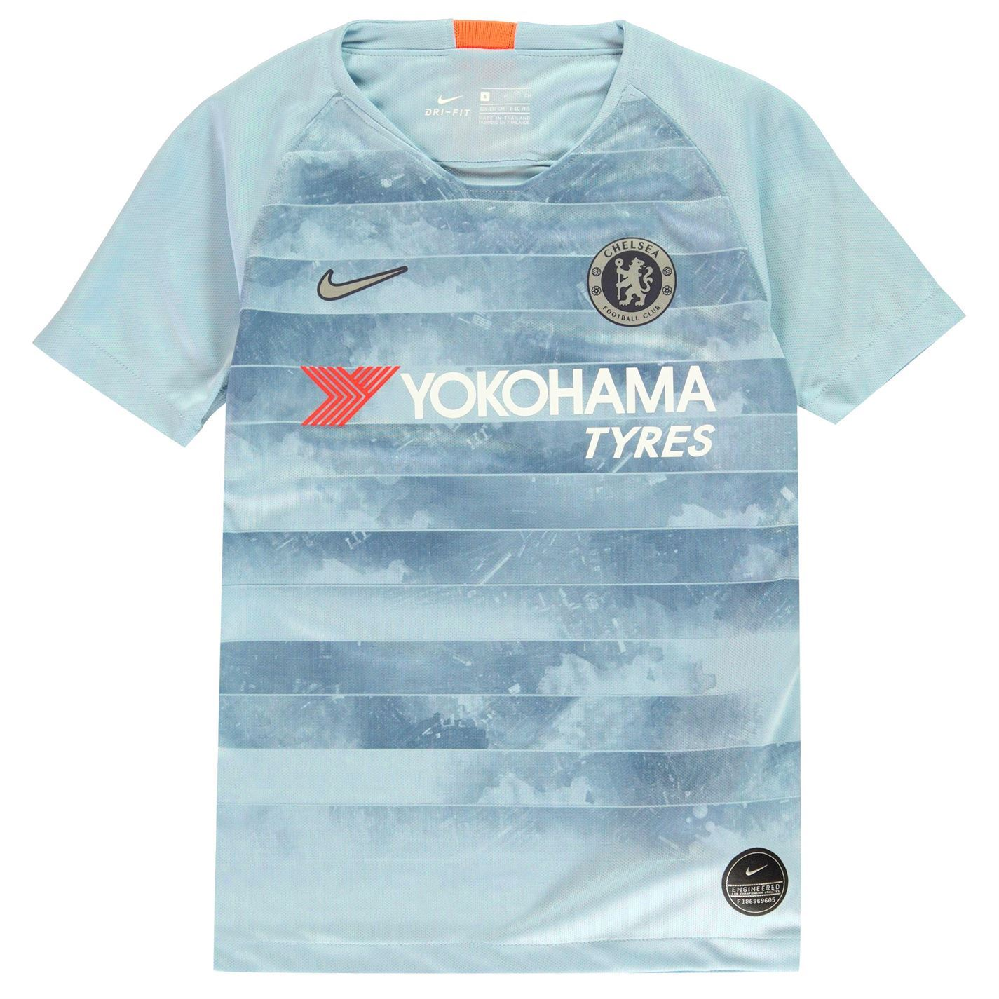 finest selection c739c 0f3c0 Details about Nike Chelsea Third Jersey 2018 2019 Juniors Blue/Silver  Football Soccer Shirt