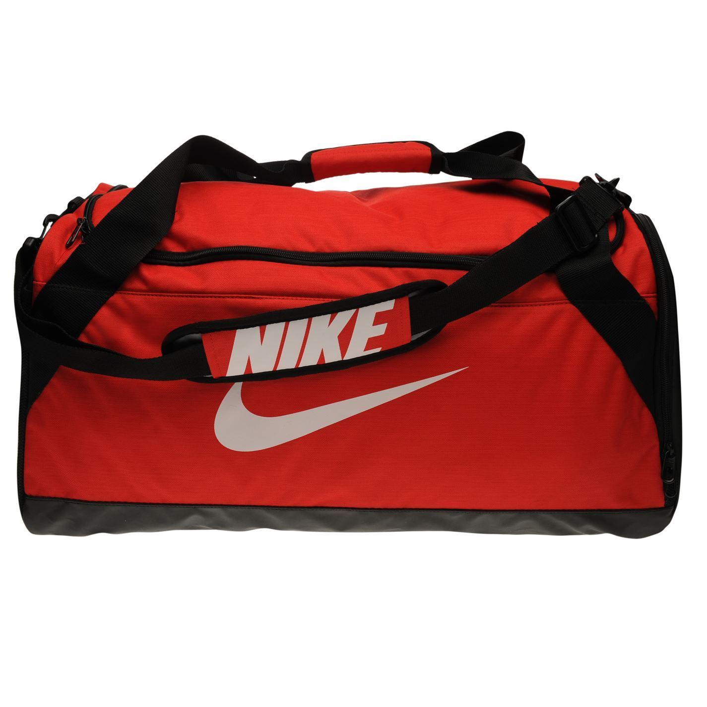 bd4bb77e8989 ... Nike Brasilia Medium Sports Holdall Red Gym Kit Bag Carryall ...