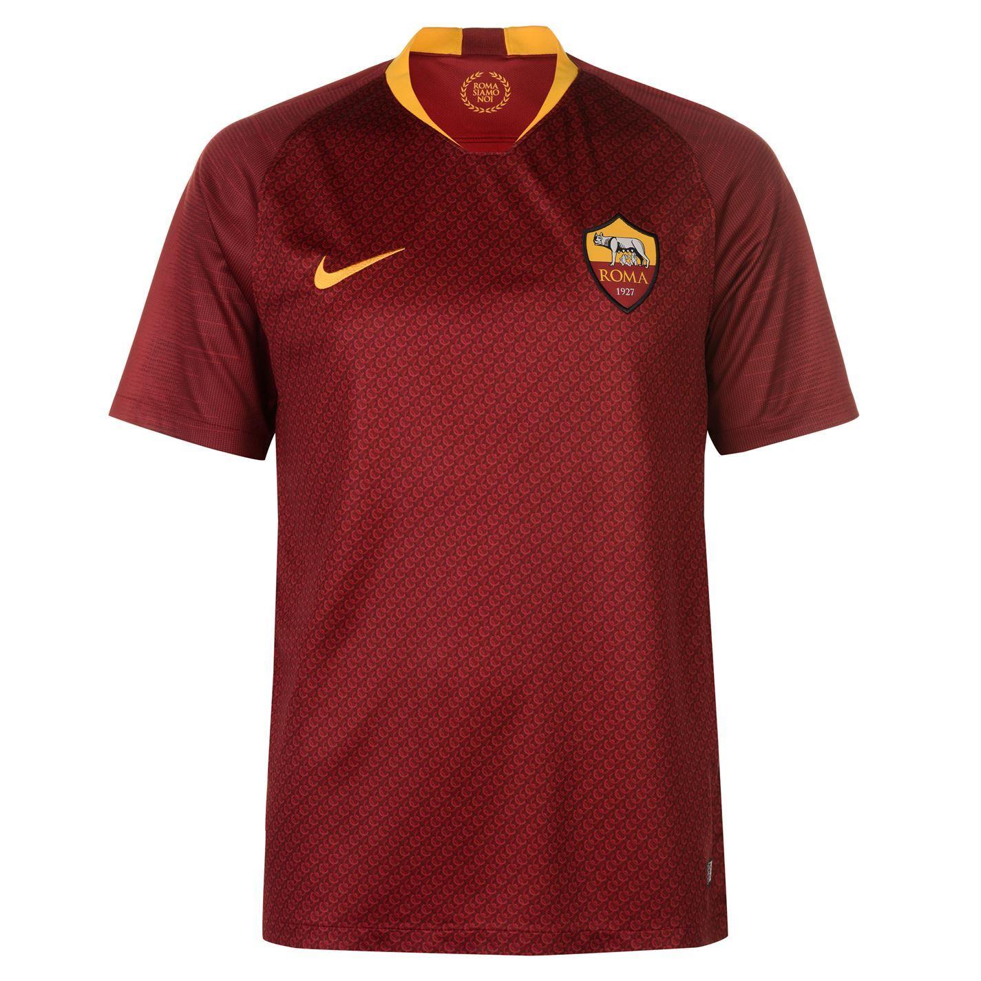 c0754d94d0e3 Nike AS Roma Home Jersey 2018 2019 Mens Red Gold Football Soccer Fan Shirt  Top