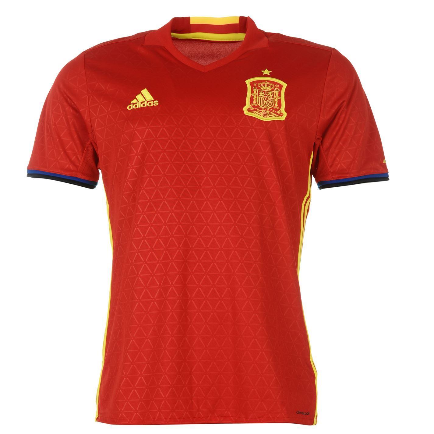 f140133943b95 ... Adidas España Home Jersey 2016 hombres rojo amarillo fútbol fútbol  camiseta Top ...
