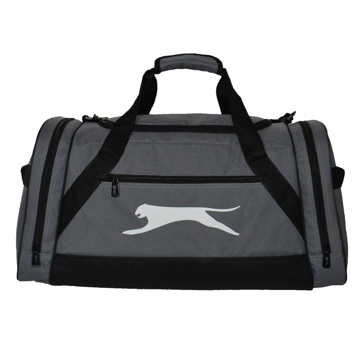 ... Slazenger Large Sports Holdall Charcoal Gym Kit Bag Carryall ... 72c298adbf3d0