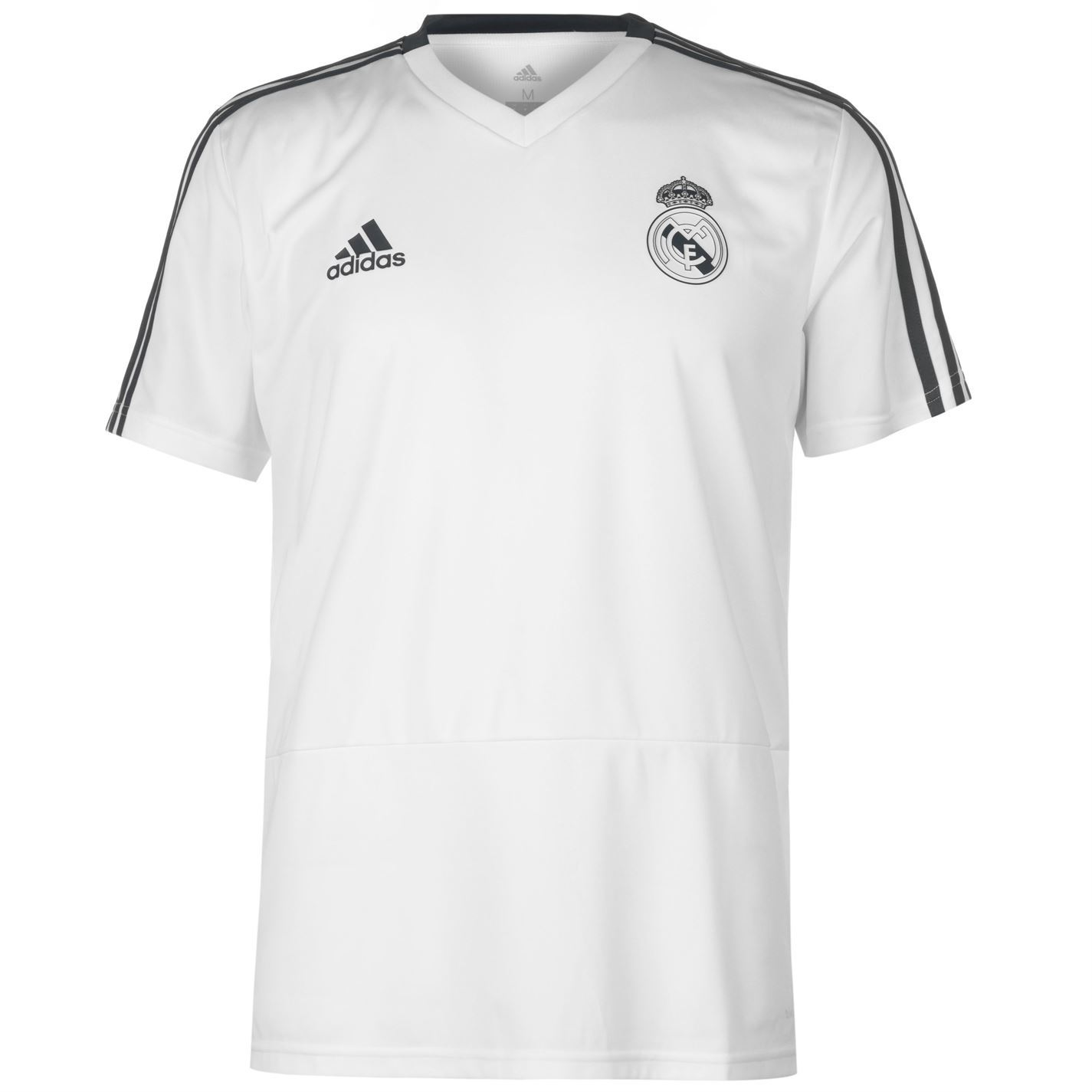 8048718e139 ... adidas Real Madrid Training Jersey Mens White Football Soccer Fan Shirt  Top Tee ...