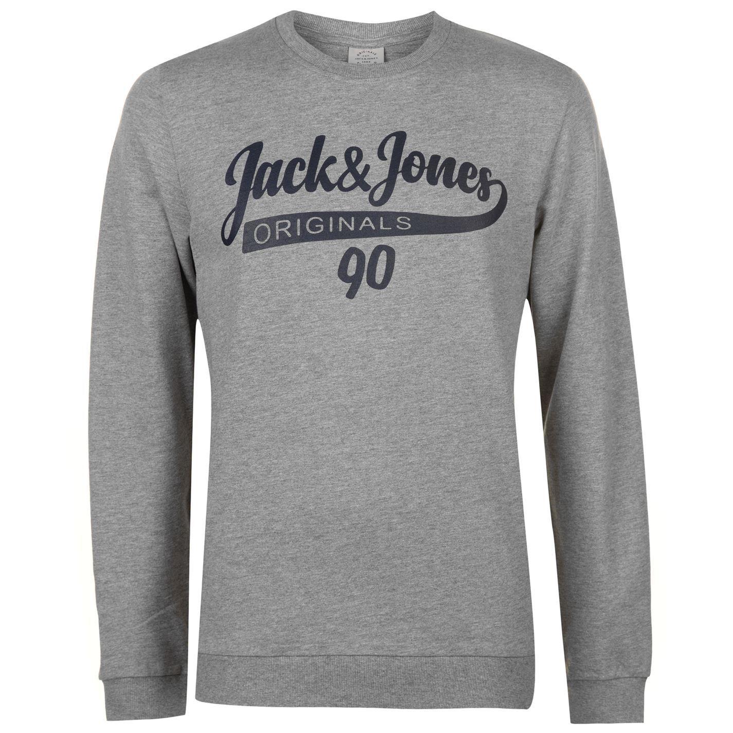 Grijs Sweater Sweatshirt Heren Jones Jack Jumper Galions Originals Top H18Sq7