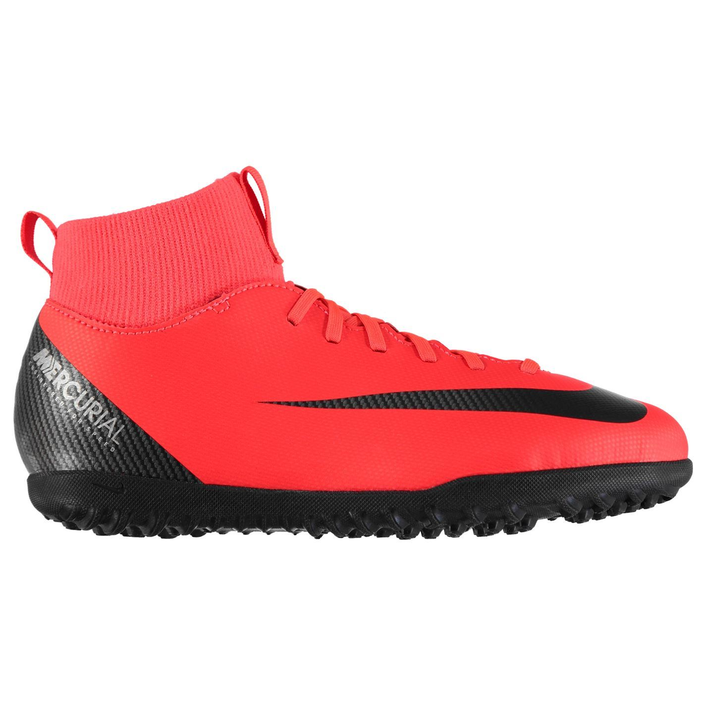 Details about Nike Mercurial Superfly Club CR7 Astro Football Trainers Juniors Red Soccer Shoe
