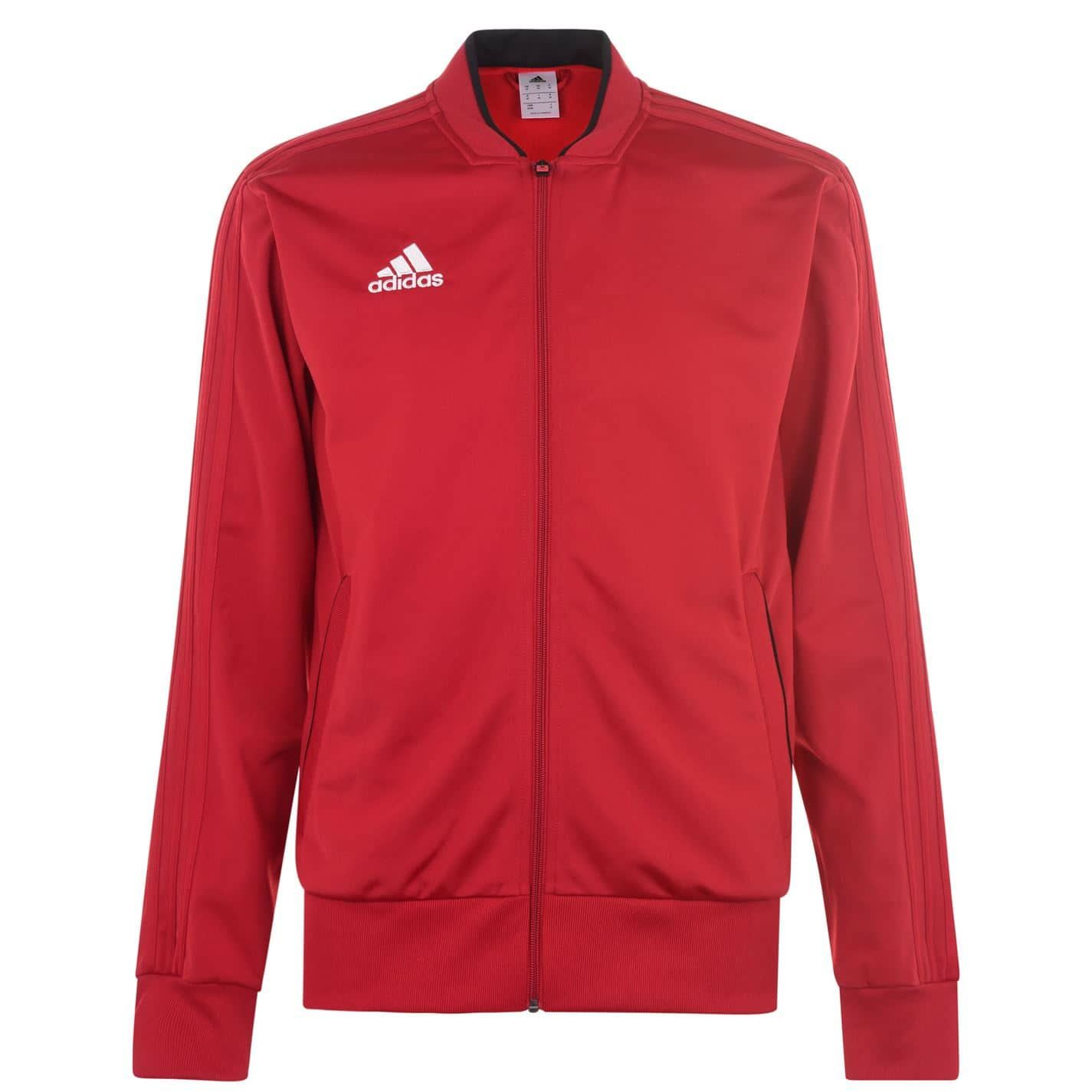 Details about adidas Condivo Tracksuit Jacket Mens RedBlack Football Soccer Track Top