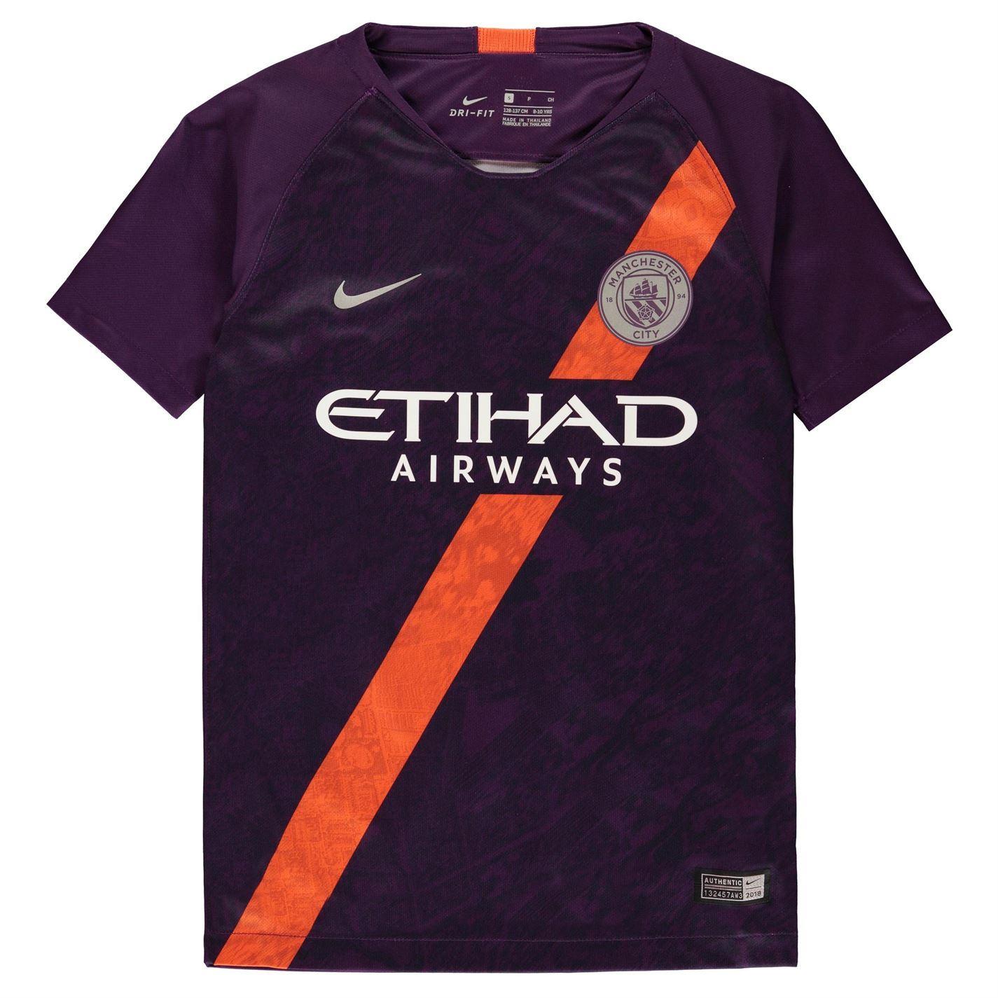 a28b7414f Nike Manchester City Third Jersey 2018 2019 Juniors Purple Football Soccer  Shirt