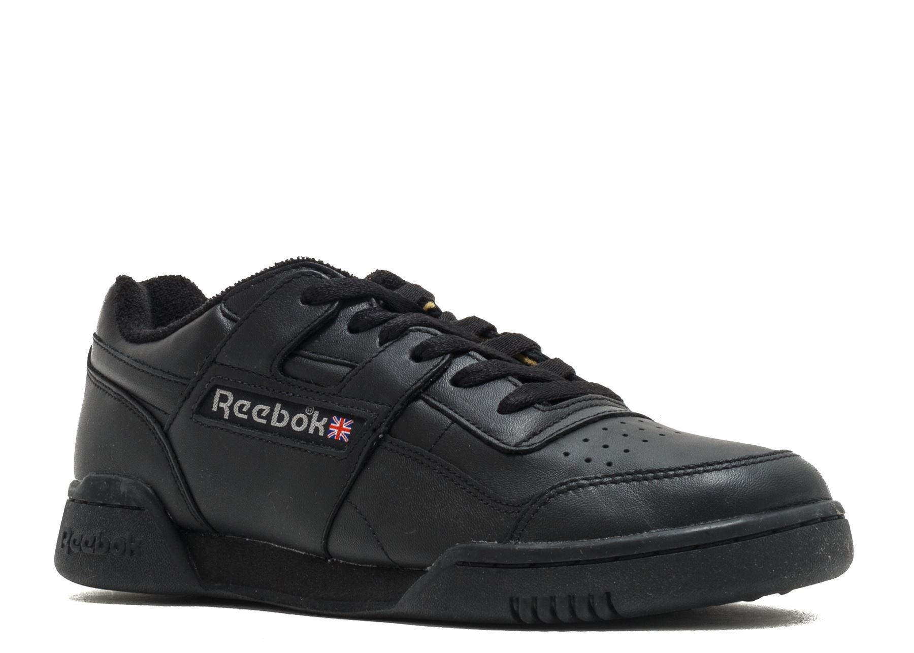 info for 452cd 33e1b Reebok Workout Plus Vintage Trainers Mens Black Sneakers Gym Shoes Footwear