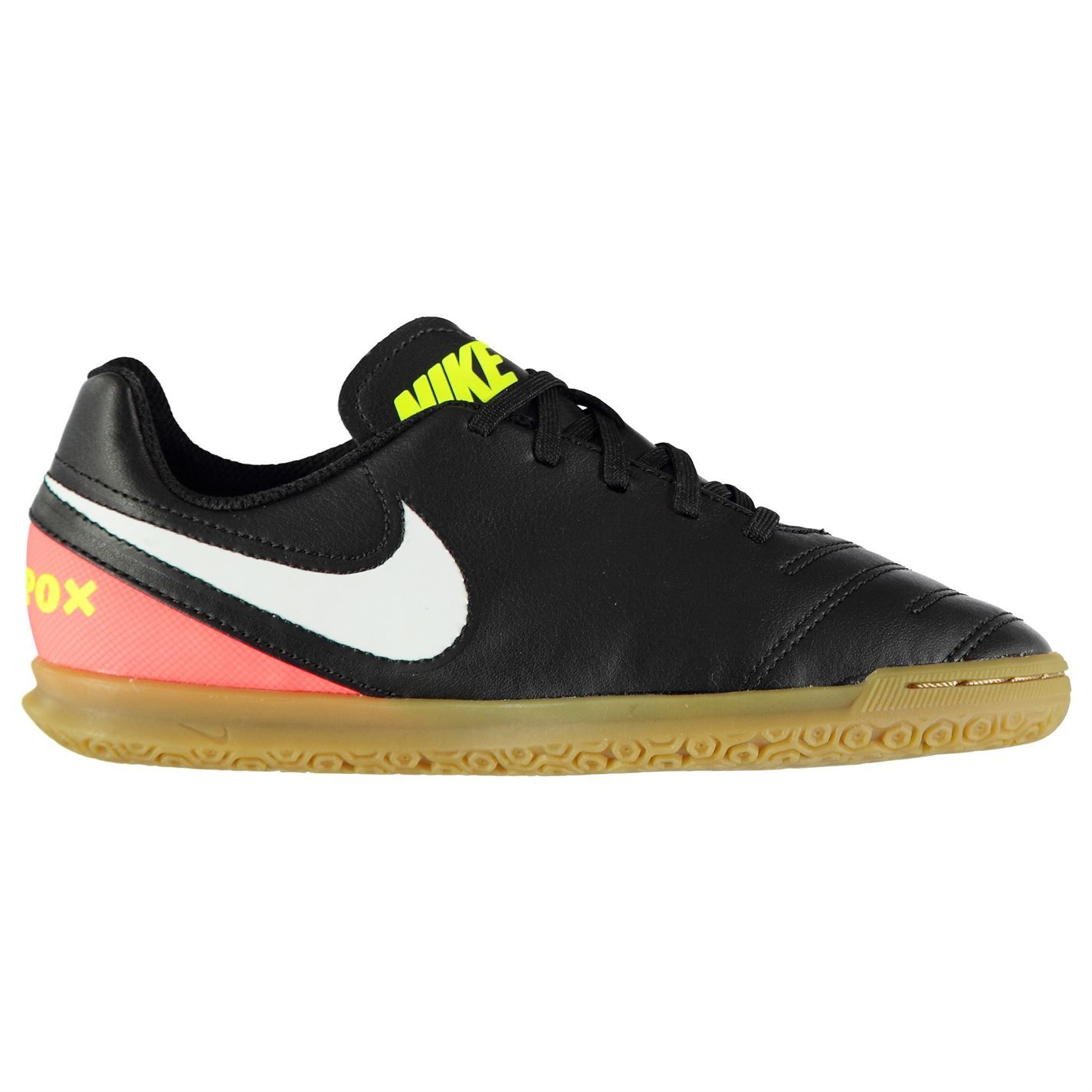 ce0a971b3d5e ... Nike Tiempo Rio Indoor Court Football Trainers Juniors Blk Soccer Shoes  Sneakers ...