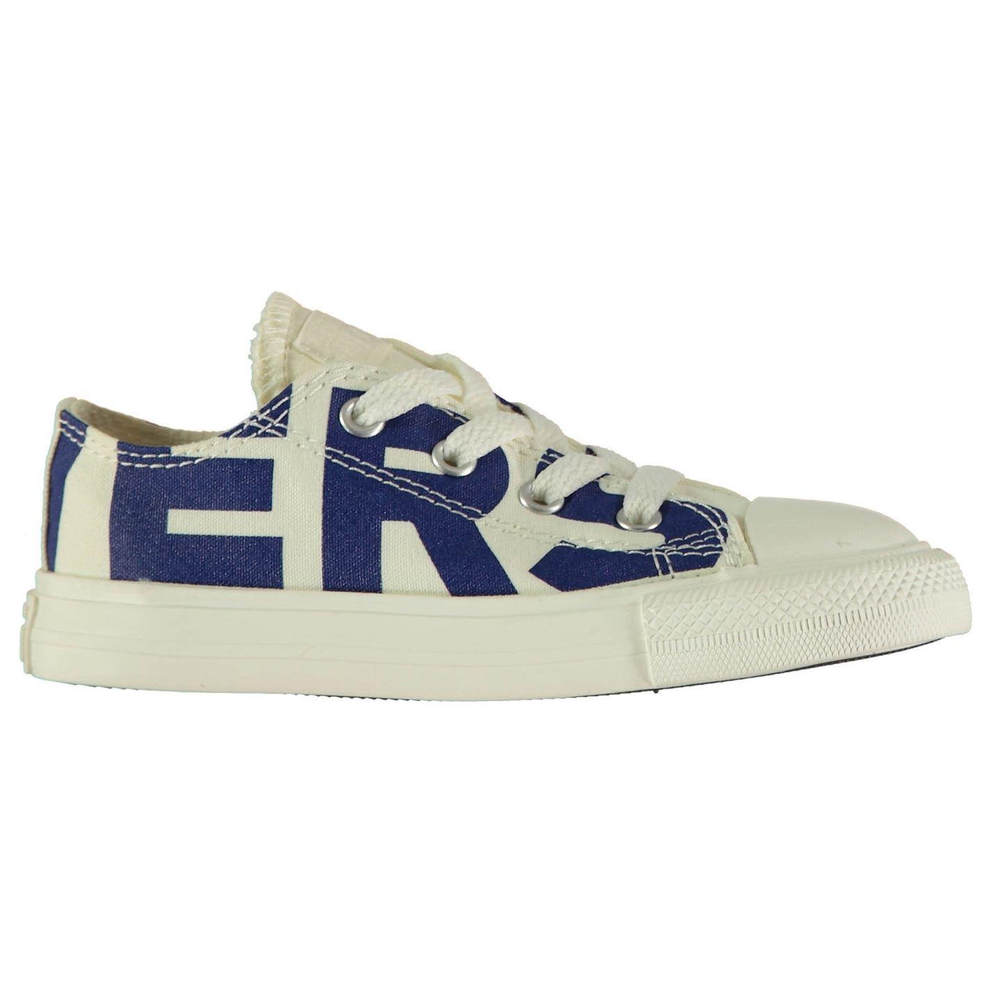 48658eb20 ... Lienzo de marca Converse zapatos niños zapatillas Beige azul calzado ...