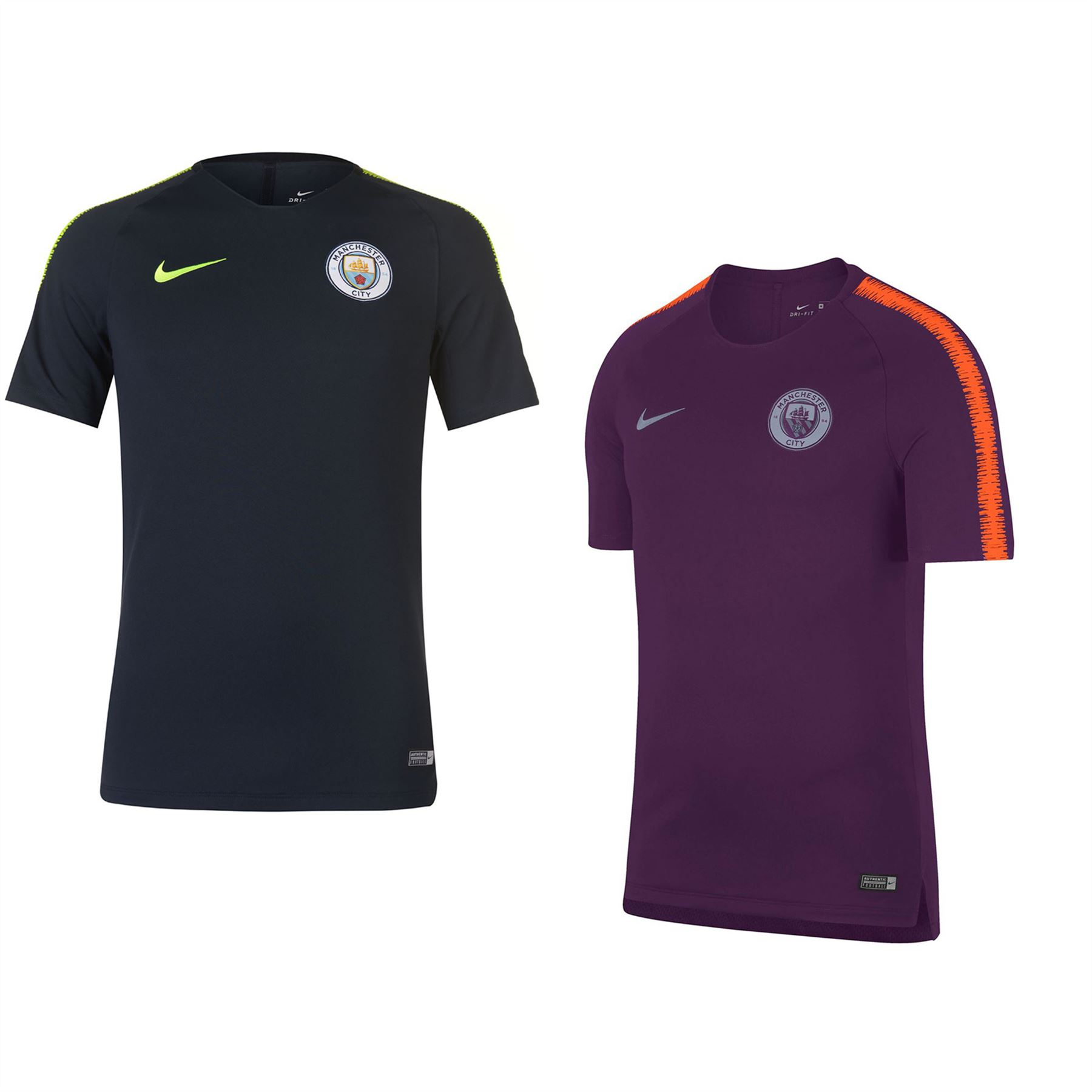b0f50ab5e Nike Manchester City Squad T-Shirt 2018 2019 Mens Football Soccer Top Tee