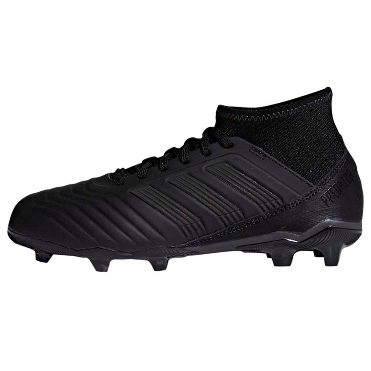 1535bf721 ... adidas Predator 18.3 FG Firm Ground Football Boots Juniors Black Soccer  Cleats ...