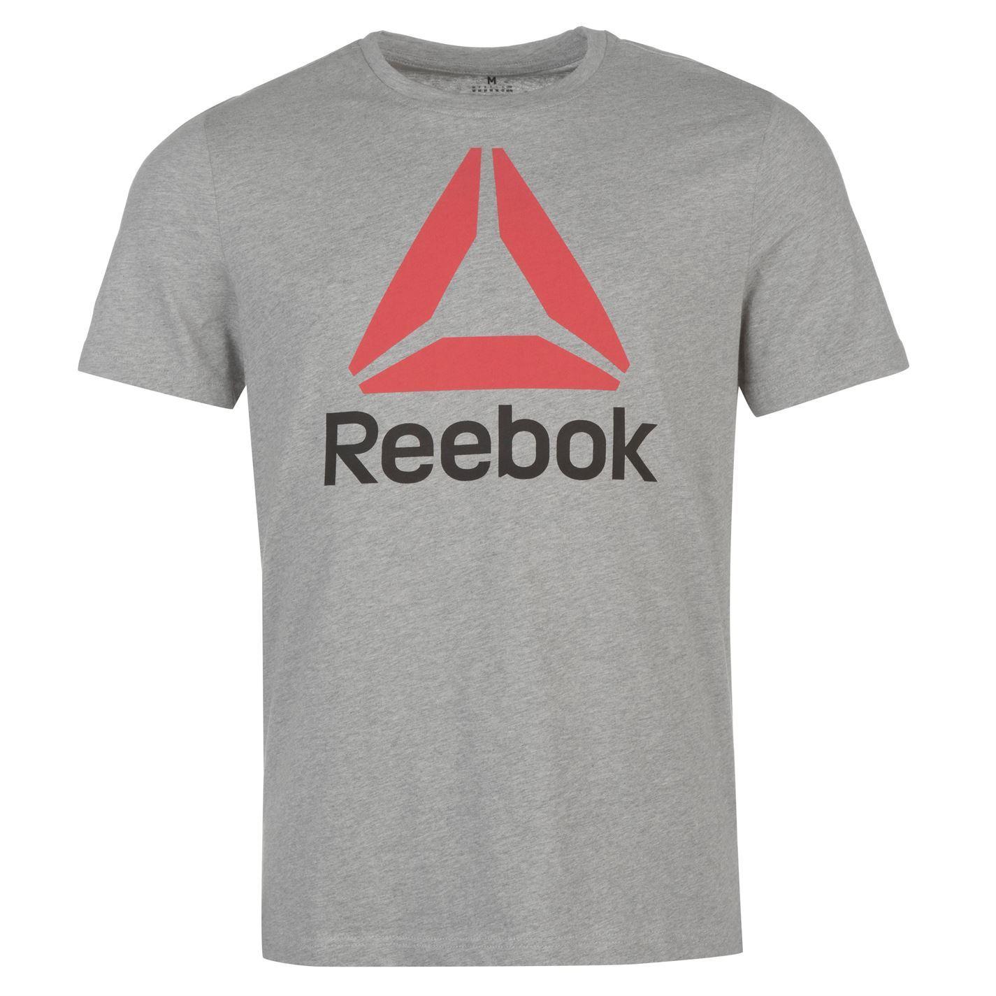 Reebok-Stack-Delta-Logo-T-Shirt-Mens-Tee-Shirt-Top thumbnail 13