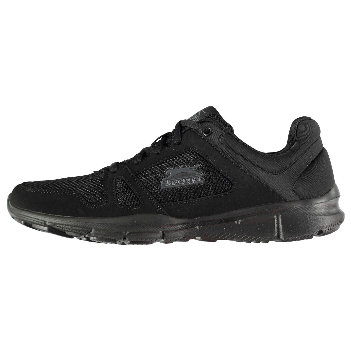 952eac247e18 ... Slazenger Force Mesh Running Shoes Mens Black Fitness Jogging Trainers  Sneakers ...