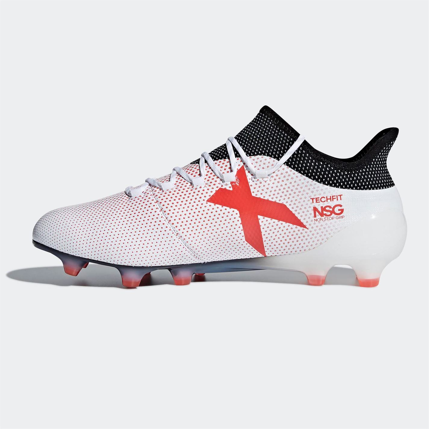 check out dc78d c983c ... adidas X 17.1 FG Firm Ground Football Boots Mens White Soccer Shoes  Cleats