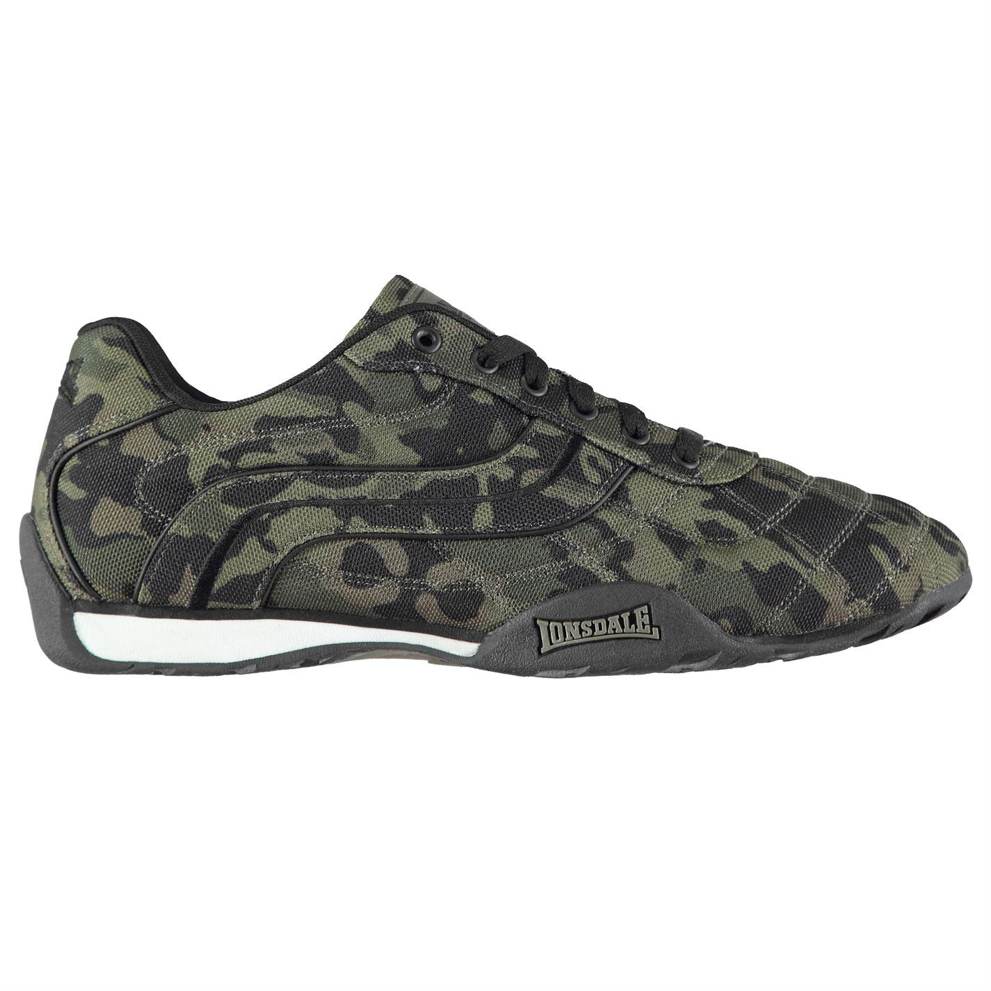 ... Lonsdale Camden Camouflage Trainers Mens Green Shoes Sneakers Footwear  ...