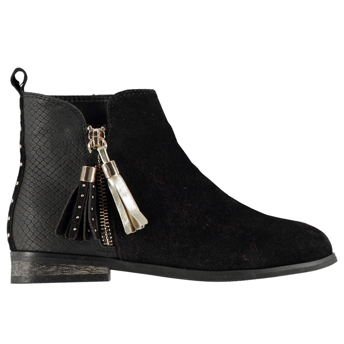 Details about Miso Sophia Zip Ankle Boots Childs Girls Black Shoes Boot  Kids Footwear