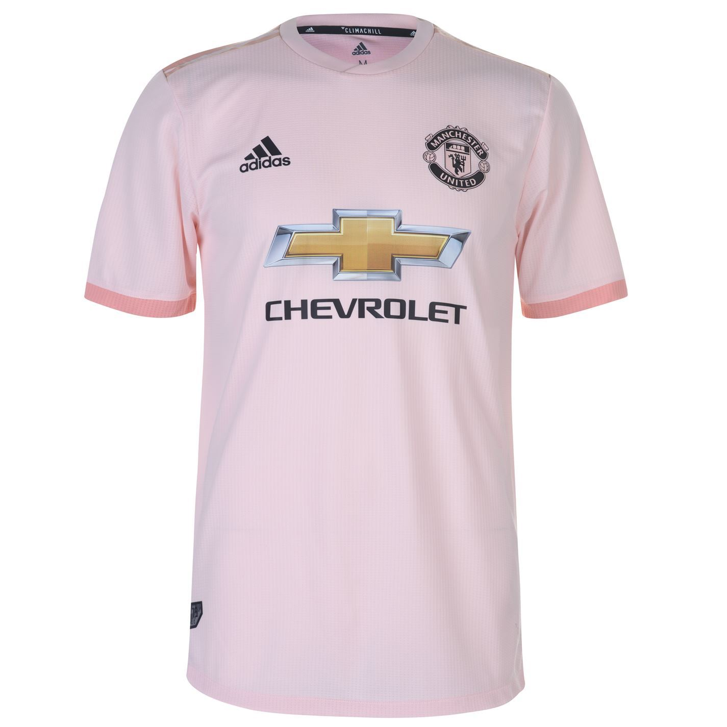 adidas Manchester United Away Authentic Jersey 2018 19 Mens Pink Football  Soccer ae08dc05c1ebd